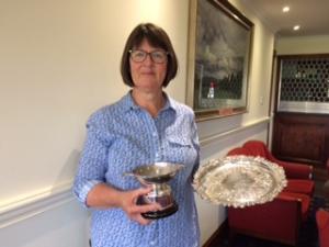Handicap Winner & Senior Trophy Winner Patricia Parham, Shetland